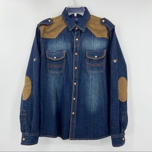 SCOTCH & SODA Casual Denim Shirt Top, Roll Up